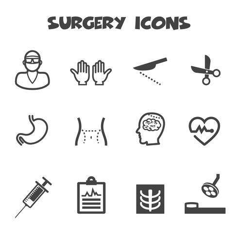 símbolo de ícones de cirurgia vetor