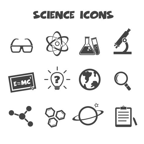símbolo de ícones da ciência vetor