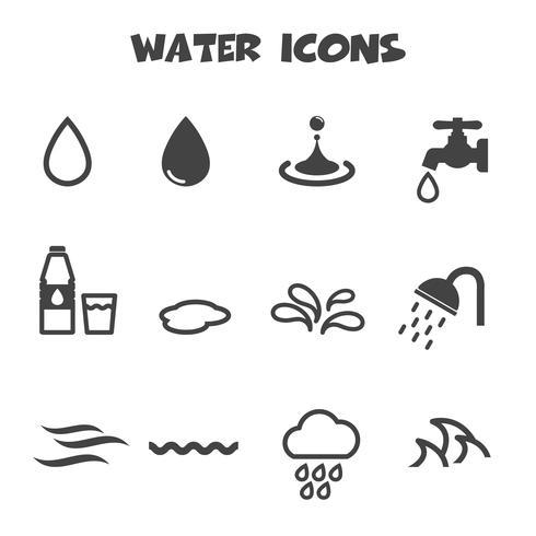 símbolo de ícones de água vetor