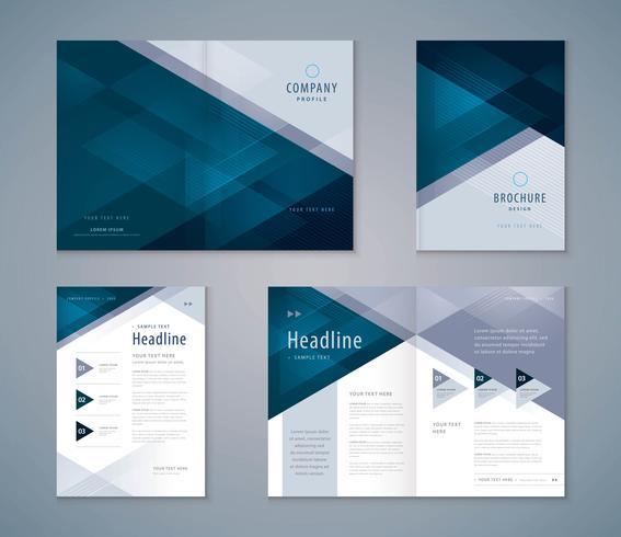 Conjunto de design de livro de capa abstrata vetor