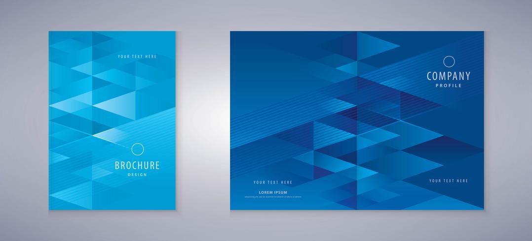 Design de livro de capa de triângulo vetor