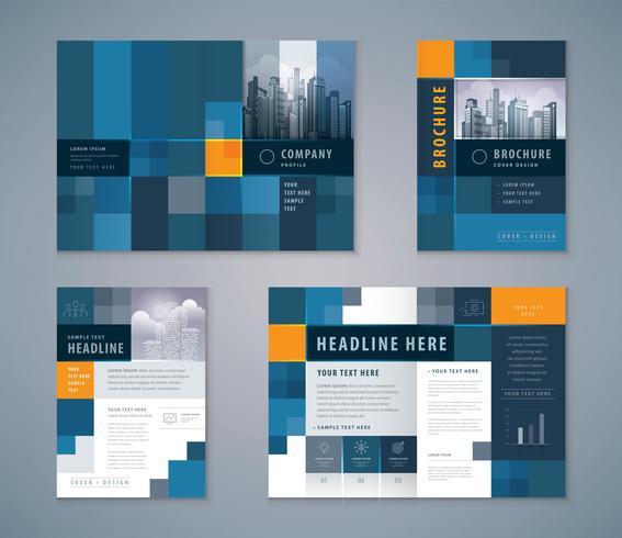 Conjunto de Design de livro de capa, modelo de fundo abstrato Pixel brochuras vetor