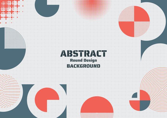 Meio-tom redondo abstrato design moderno forma fundo e meios-tons vetor