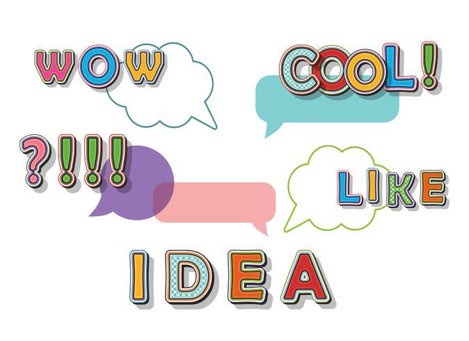 Idéia criativa conceito estilo cômico de pop art vetor