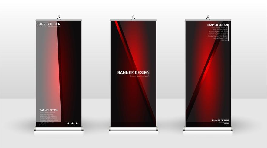Design de modelo de banner vertical vetor
