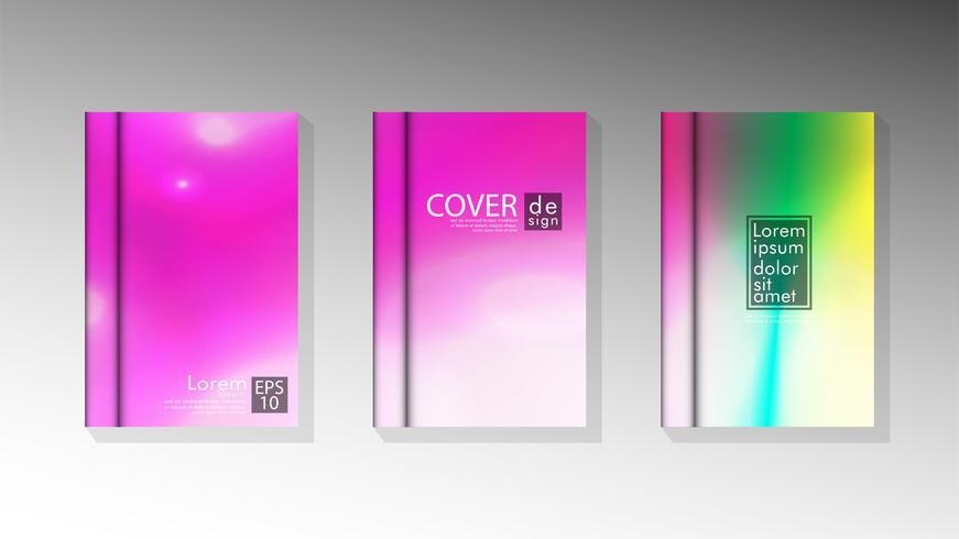 Fundos de capa de livro para brochuras vetor