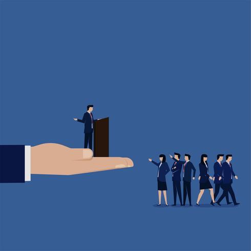 Gerente falando com funcionários e ninguém se importa vetor