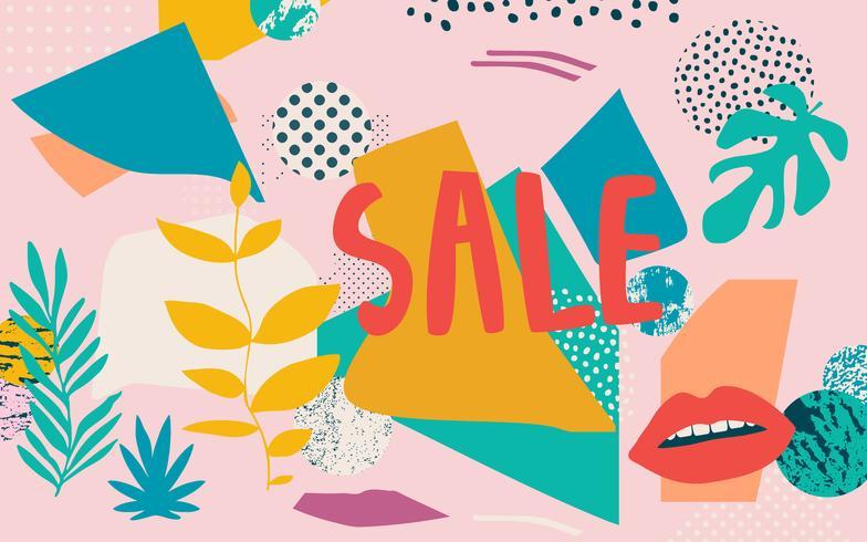 Banner de site de venda abstrata vetor