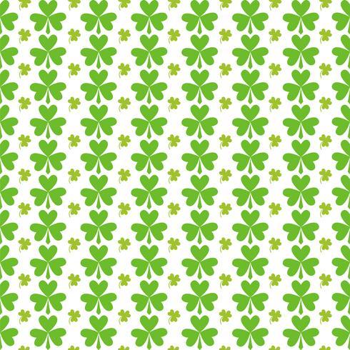 Dia de São Patrício sem costura verde folhas padrão vetor