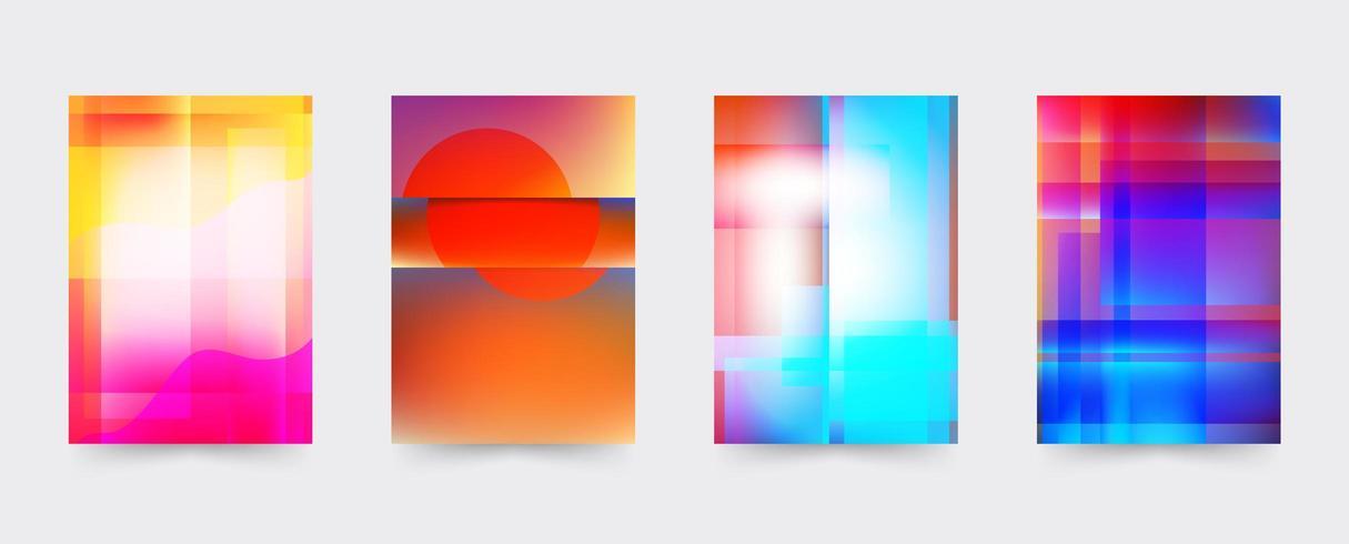 Conjunto de modelo de capa brochura colorida vetor