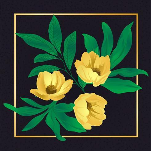 Bela flor floral vetor