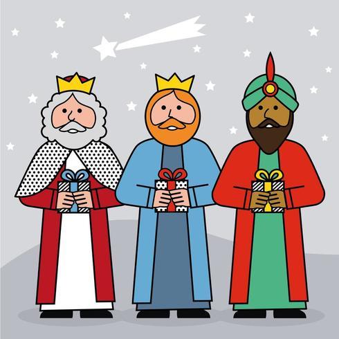 Os três reis do Oriente vetor