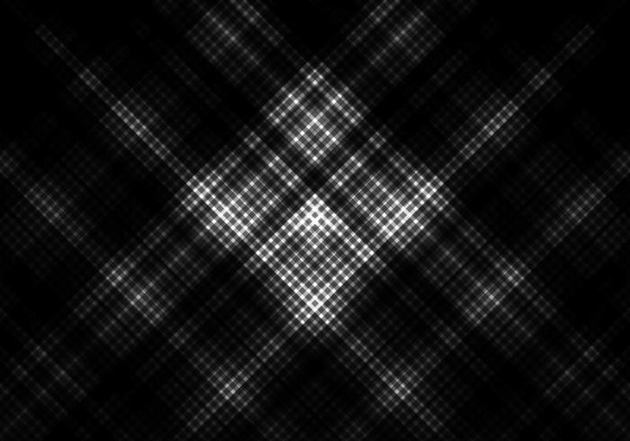 fundo de cor preto e branco com grade quadrada vetor