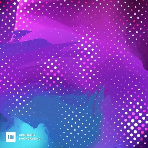 escova de pintura azul e roxa fundo de cor vibrante vetor