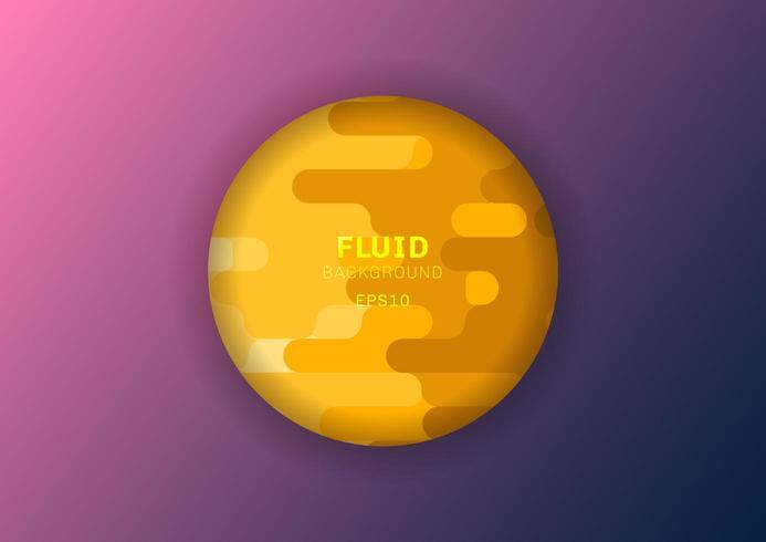 linhas arredondadas amarelas fluidas fundo estilo de meio-tom vetor