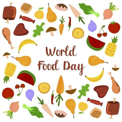 Dia Mundial das Comidas e Frutas vetor
