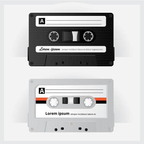 Ilustração de fita cassete vintage vetor