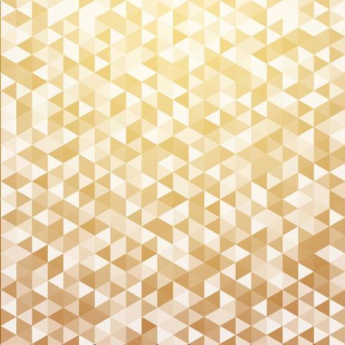 Luxo abstrato listrado triângulo geométrico padrão cor de ouro vetor
