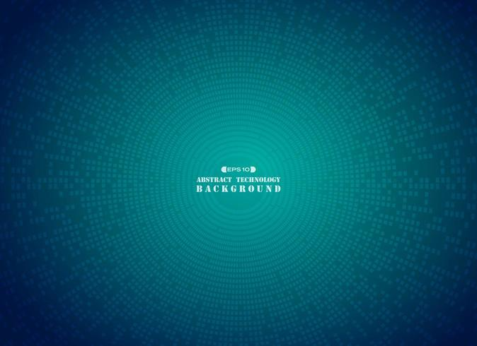 Teste padrão abstrato futurista digital círculo quadrado azul vetor