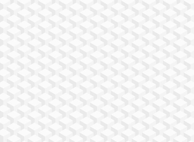 Textura abstrata branca cinza cubo geométrico vetor
