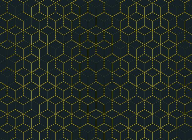 Padrão de hexágono simples mínimo mínimo de cor ouro vetor