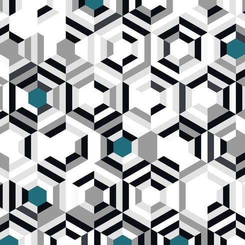 Gradiente de preto cinza abstrato com padrão azul hexágono vetor