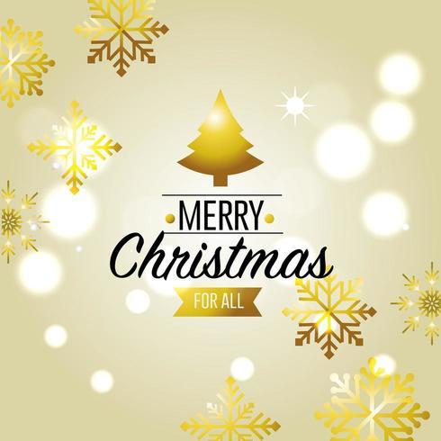 design de decoração de cartão de feliz natal vetor