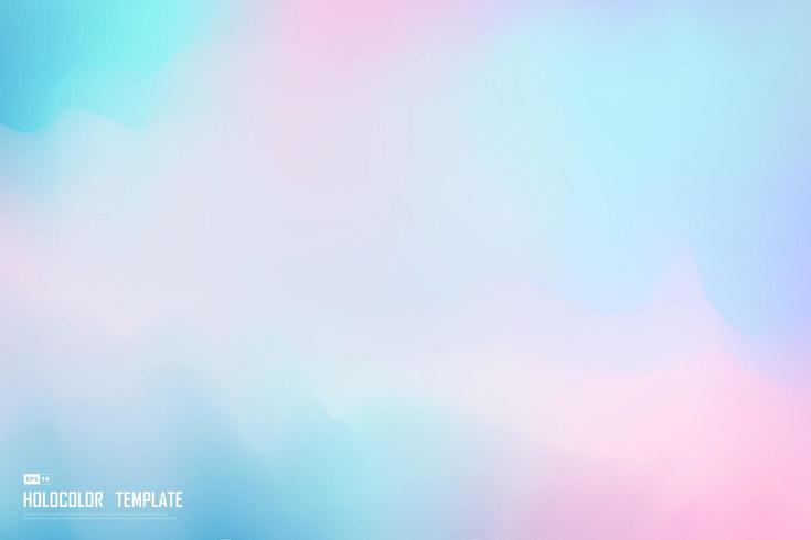 Projeto de holograma colorido vetor