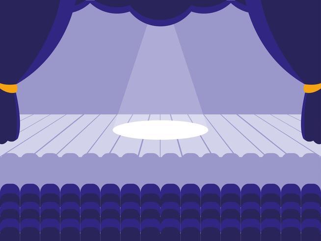 Cena de palco de teatro vetor