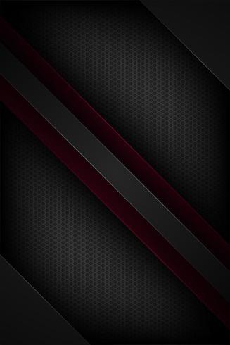 Conceito de papel geométrico abstrato preto e vermelho vetor