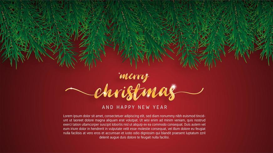 Cartão de feliz Natal. vetor