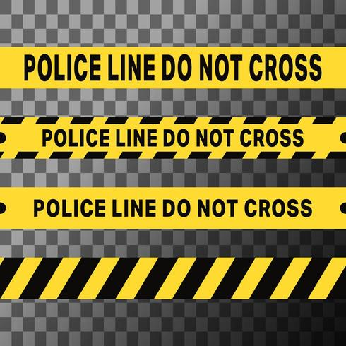 Linha de polícia não cruza fitas vetor