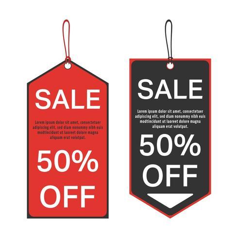 Modelo de etiqueta de venda vetor