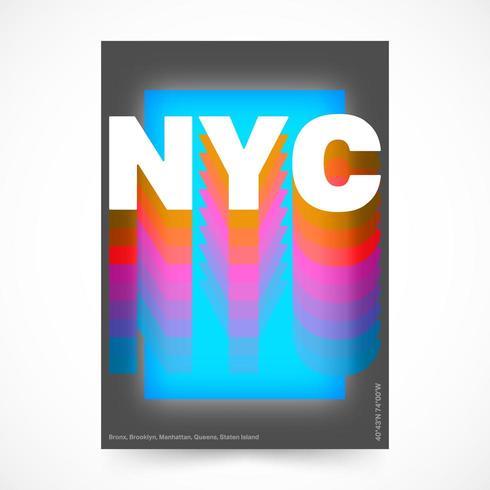 Cartaz da cidade de Nova York vetor