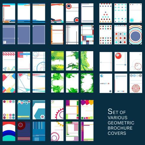 Capas de desenho geométrico para brochura vetor