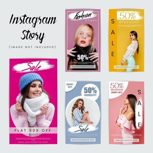 Modelo de mídia social de histórias do Instagram vetor
