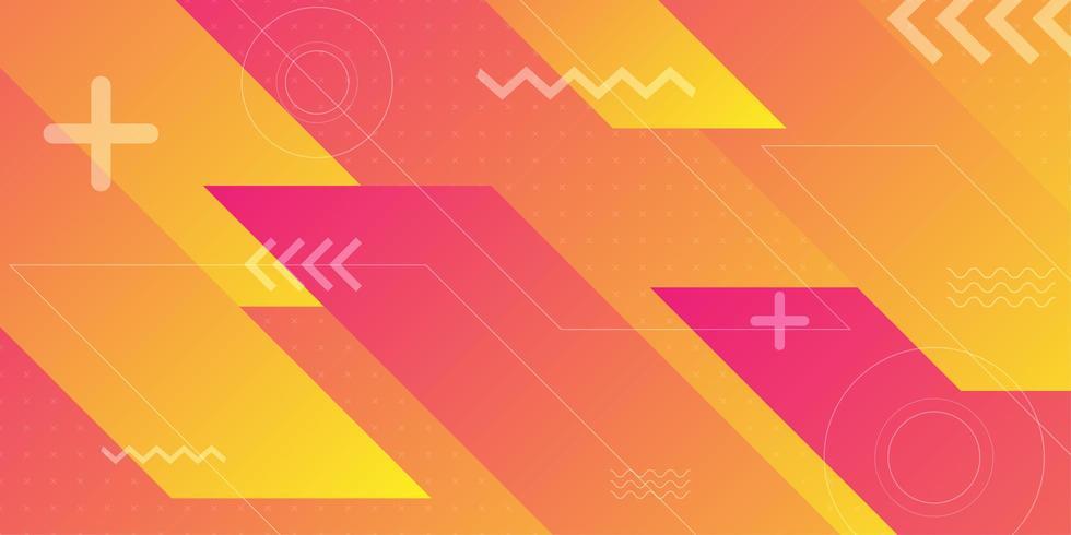 Formas abstratas angulares diagonais vermelhas laranja vetor