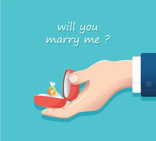 proposta de casamento vetor