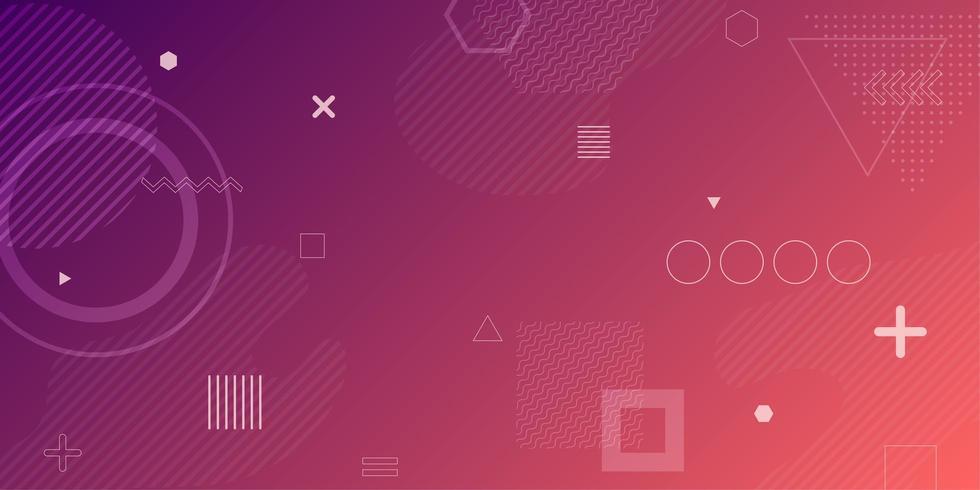 Fundo geométrico abstrato gradiente roxo rosa vetor