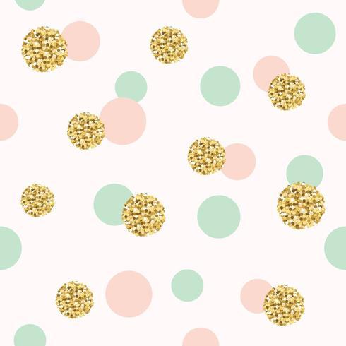 Padrão sem emenda de glitter confetes polka dot. vetor