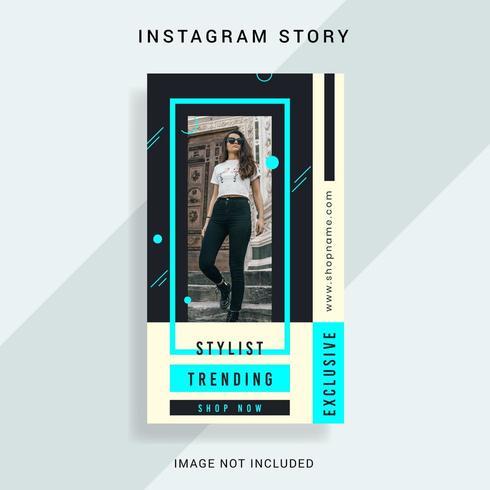 modelo de história do instagram vetor