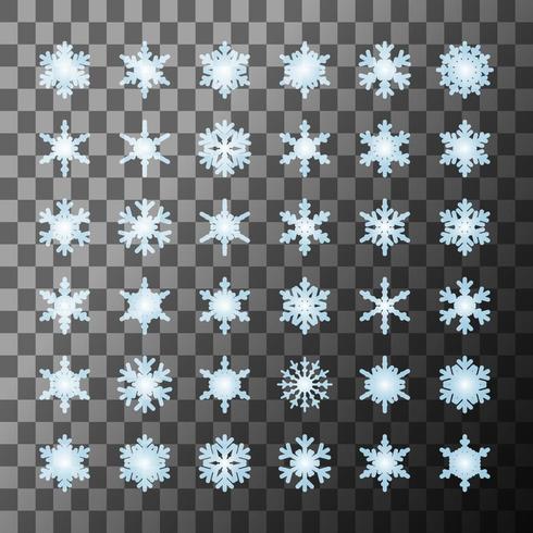 Coleção de modelo de flocos de neve vetor