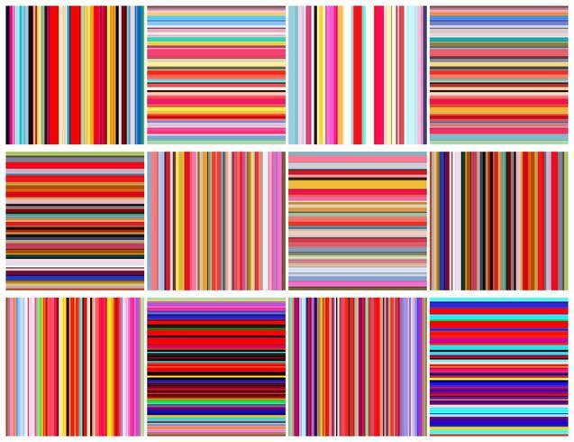 Conjunto de linhas de cores padrão sem emenda vetor