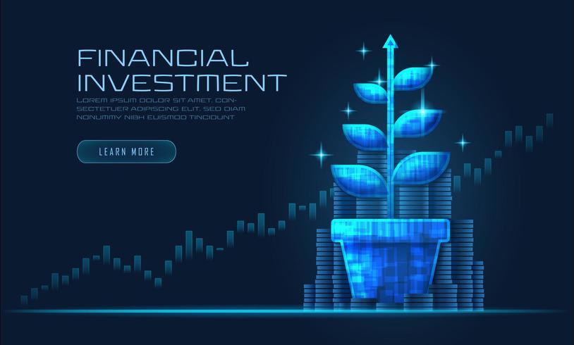 Conceito de crescimento financeiro vetor