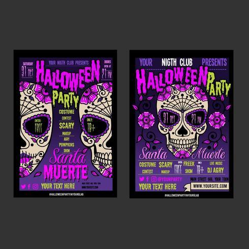 Dois cartazes para o Halloween vetor