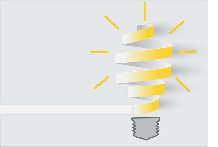 Rolo de papel de conceito de inspiração lâmpada vetor
