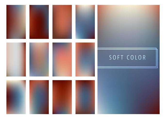 Conjunto de fundo de gradientes de cores suaves vetor