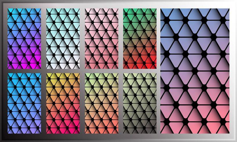 Papel de parede gradiente triângulo para tela do smartphone vetor