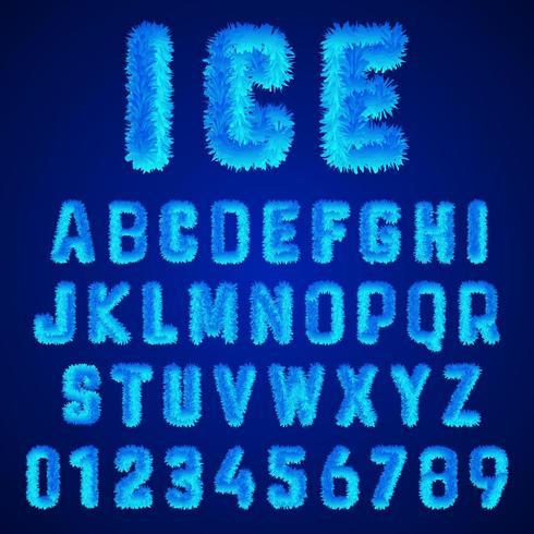 Modelo de alfabeto de fontes de gelo vetor
