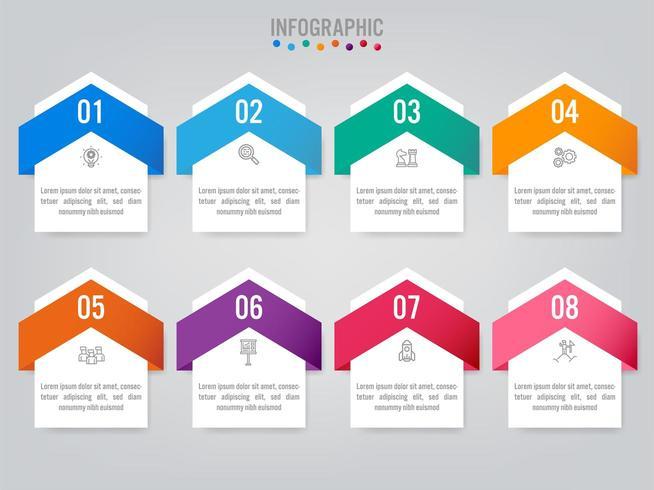 Modelo de etiquetas de infográfico de negócios com opção vetor